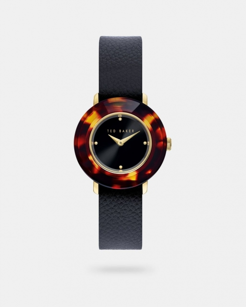 Ted Baker Reversible Leather Slip-through Strap Watch