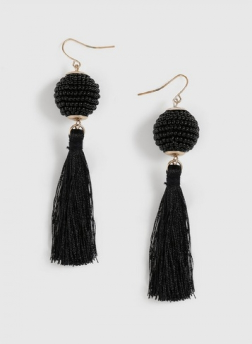 Dorothy Perkins Black Seedball Tassel Earring