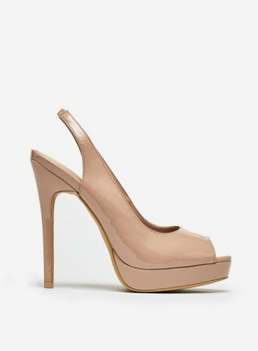 Dorothy Perkins Nude 'Gifted' Slingback Shoes Court