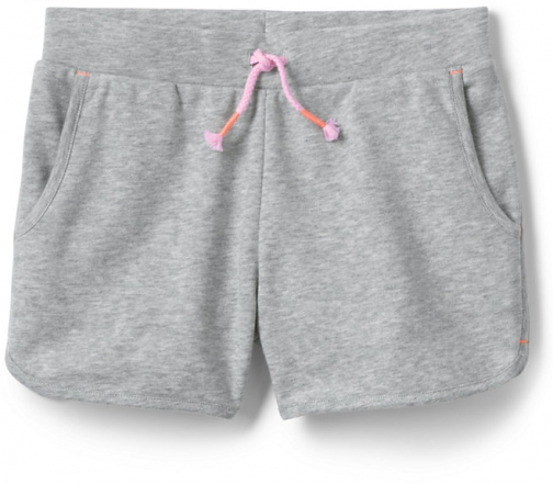 Lands' End Girls French Terry Pull On - Lands' End - Gray - S Short
