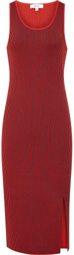 Reiss Charlie - Knitted Rib Red, Womens, Size 12 Dress