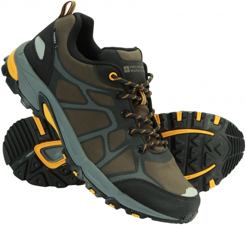 Mountain Warehouse Ascent Softshell Mens Waterproof - Green Shoes