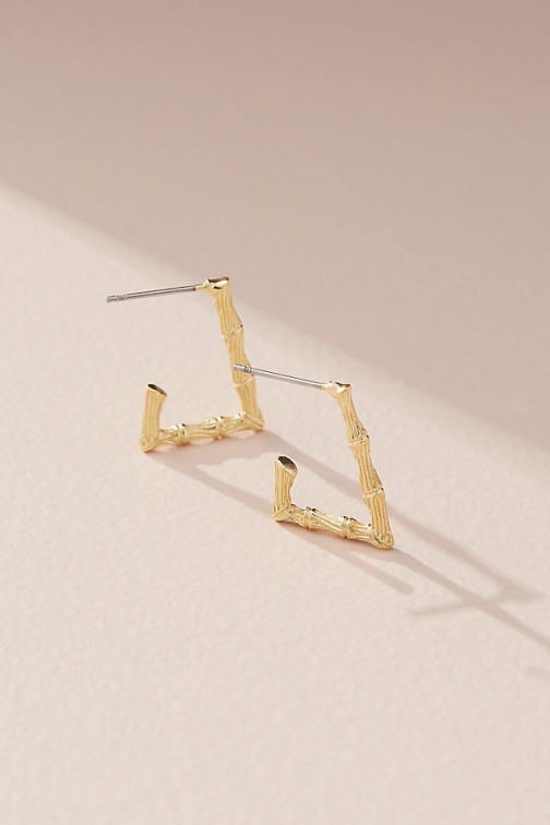 Anthropologie Bamboo-Style Hoop Earring