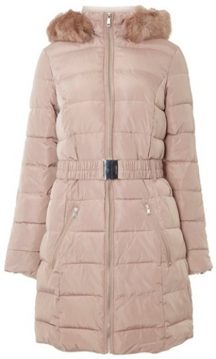 Dorothy Perkins Womens **Tall Light Pink Padded - Pink, Pink Coat