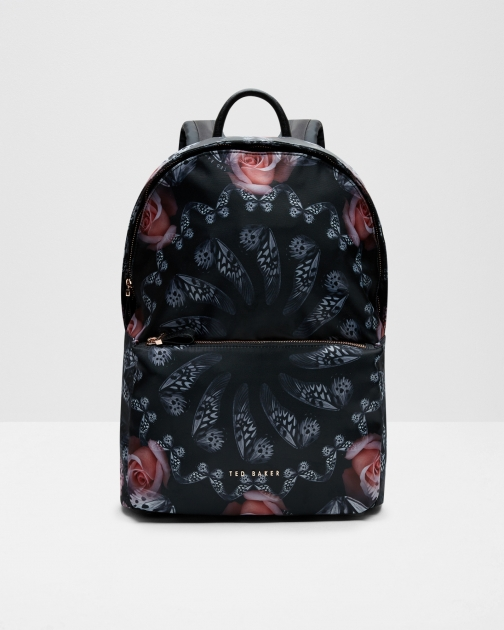 Ted Baker Dynamic Butterfly Print Black Backpack