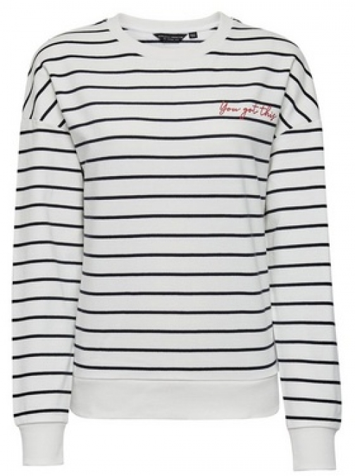 Dorothy Perkins Breast Cancer Care Black And White You Got This Striped Cotton Sweatshirt