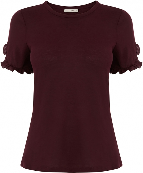 Oasis PRETTY FRILL SLEEVE TEE T-Shirt