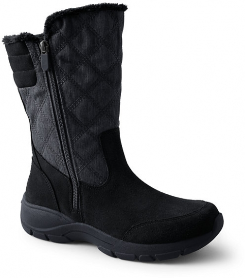 Lands' End Women's All Weather Winter - Lands' End - Black - 6 Snow Boot