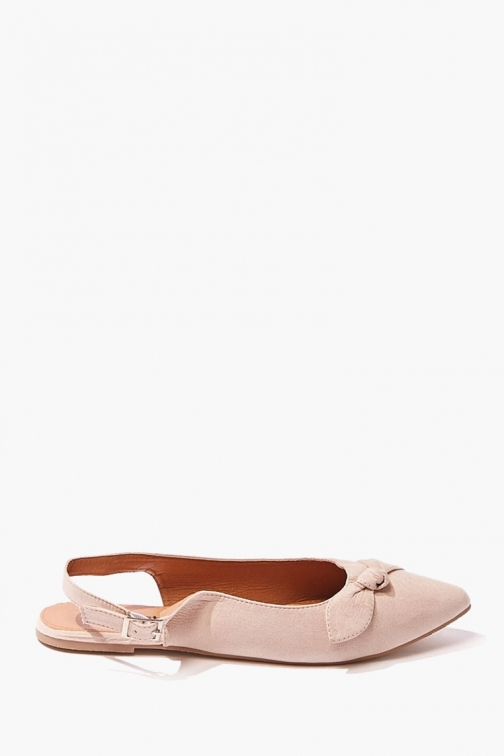 Forever21 Forever 21 Faux Suede Bow , Brown Flats