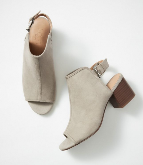 Loft Open Toe Booties Boot