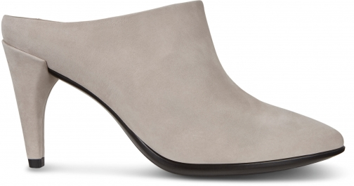 Ecco Shape 75 Pointy Heeled Womens Mules Size 4 Grey Rose Shoes