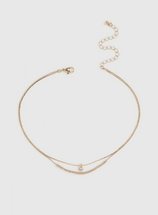 Dorothy Perkins Gold Finish Multirow Chokers