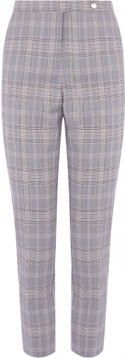 Oasis SHORT LENGTH CHECK TROUSERS Trouser