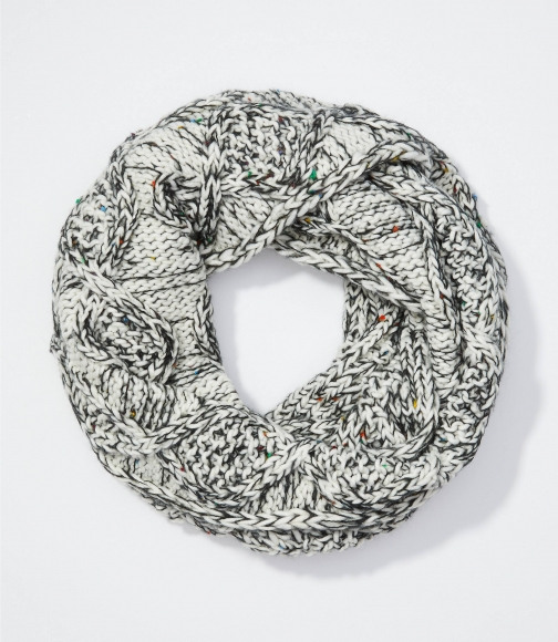 Loft Marled Cable Infinity Scarf