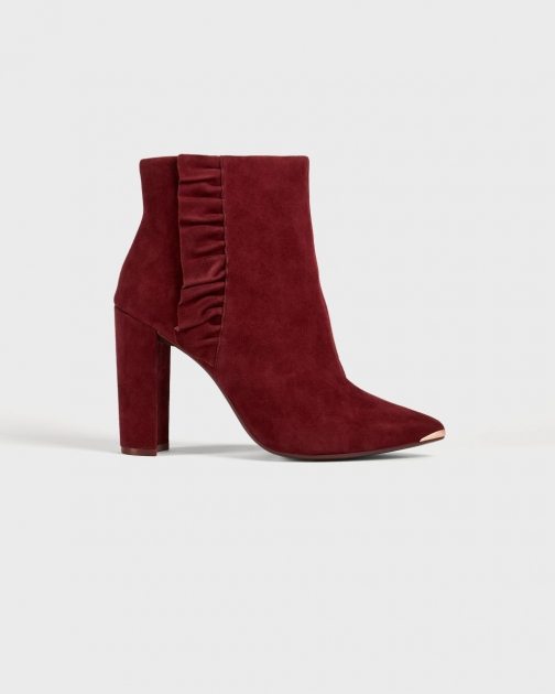 Ted Baker Leather Ruffle Heeled Boot