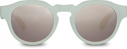 Toms Traveler By TOMS Bryton Matte Aqua Glass With Pink Mirror Lens Sunglasses
