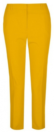Dorothy Perkins Petite Yellow Naples Ankle Grazer Trousers Trouser