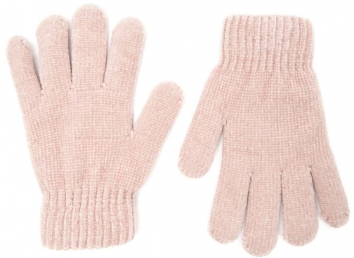 Forever21 Forever 21 Fuzzy-Lined Chenille , Blush Glove