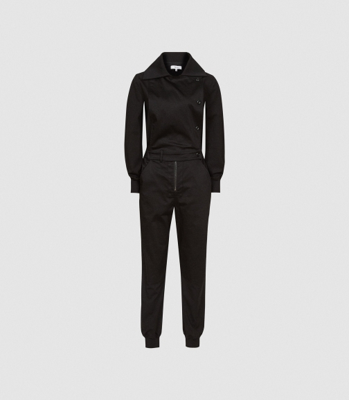Reiss Ellis - Utility Black, Womens, Size 6 Jumpsuit