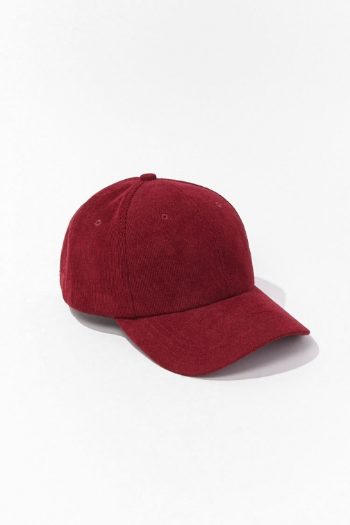 21 Men Corduroy Baseball At Forever 21 , Burgundy Cap