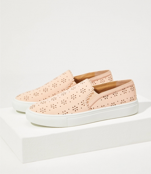 Loft Perforated Slip On Sneakers Trainer