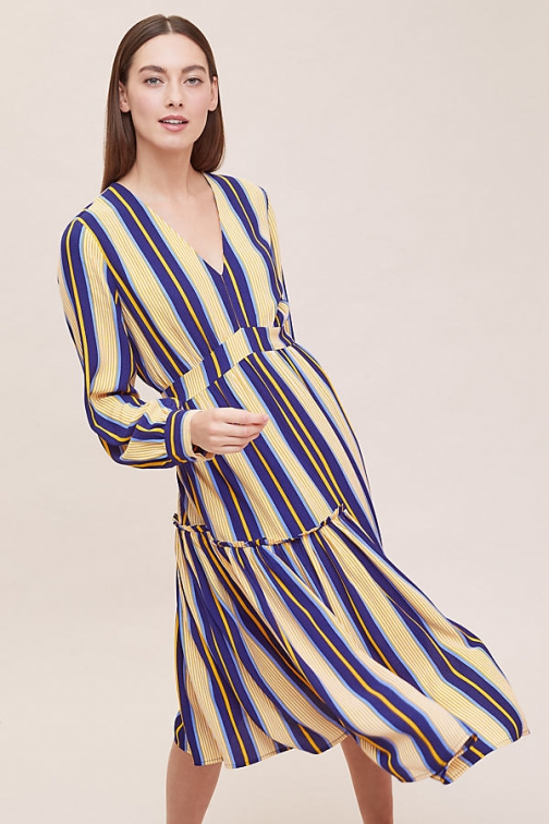 Selected Femme Serena Striped Midi Dress