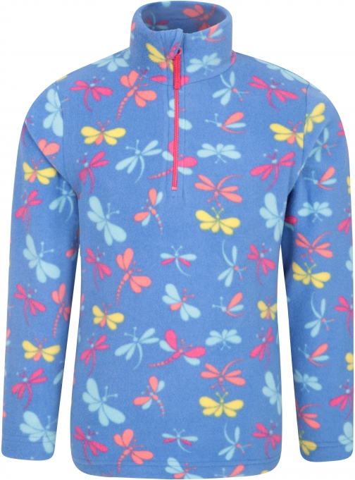 Mountain Warehouse Endeavour Kids Printed Fleece - Blue