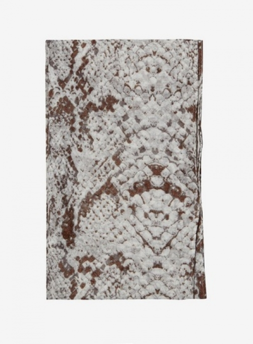 Dorothy Perkins Womens Grey Snake Print Shimmer - Multi Colour, Multi Colour Scarf