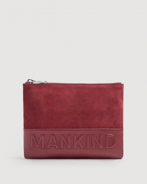 7 For All Mankind Small Mankind Burgundy Clutch