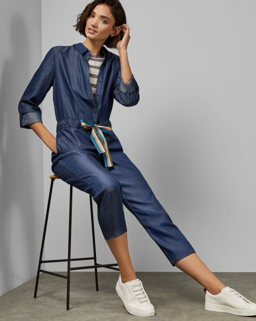 Ted Baker Lyocell Long Sleeved Jumpsuit