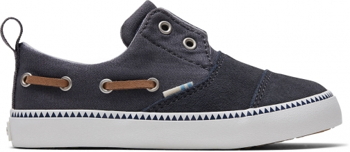 Toms Grey Canvas Suede Tiny TOMS Pasadena Slip-Ons Shoes