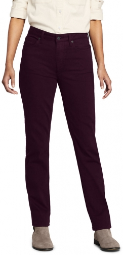 Lands' End Women's Mid Rise - Color - Lands' End - Purple - 2 30 Straight Leg Jeans