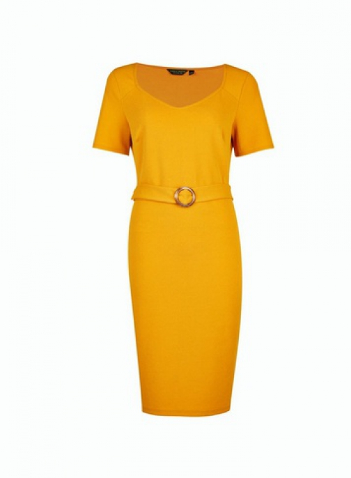 Dorothy Perkins Tall Ochre D- Shift Dres Ring