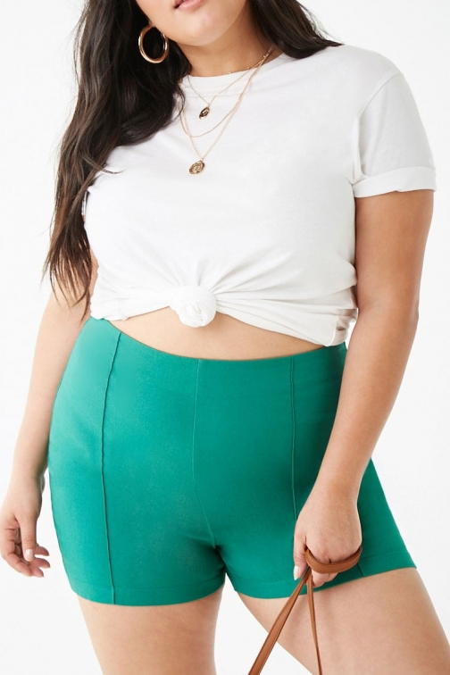 Forever21 Plus Forever 21 Plus Size High-Rise , Jade Short