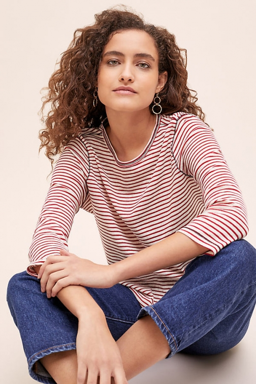 Seen Worn Kept Breton Striped Lurex Tee T-Shirt