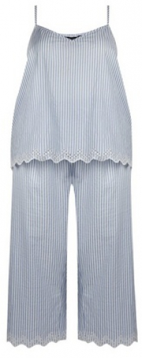 Dorothy Perkins Dp Curve Blue Stripe Print Set Pyjama
