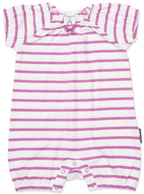 Polarn O. Pyret Baby Girls Striped Playsuit