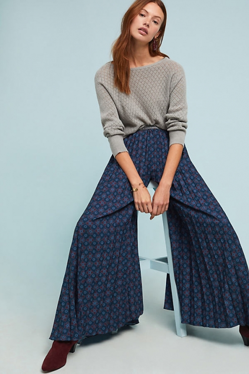 Geisha Pleated Floral Trousers Trouser