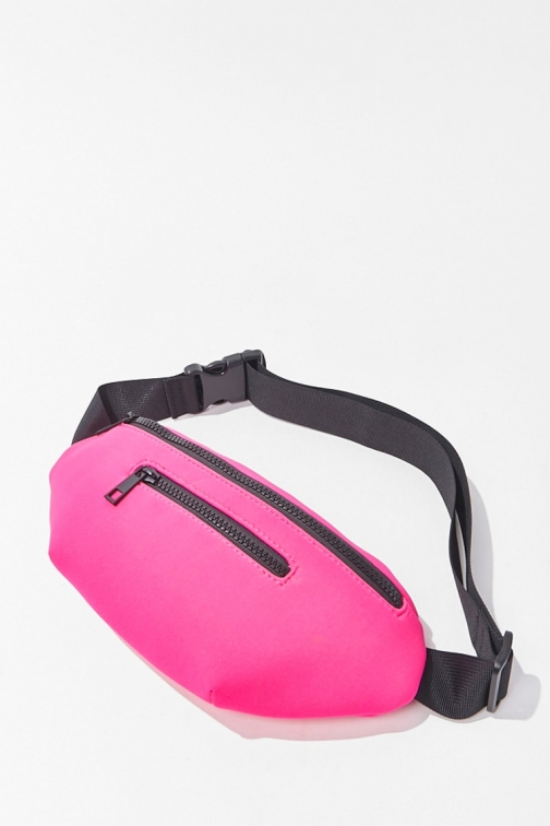 Forever21 Forever 21 Release-Buckle Zippered , Hot Pink Fanny Pack