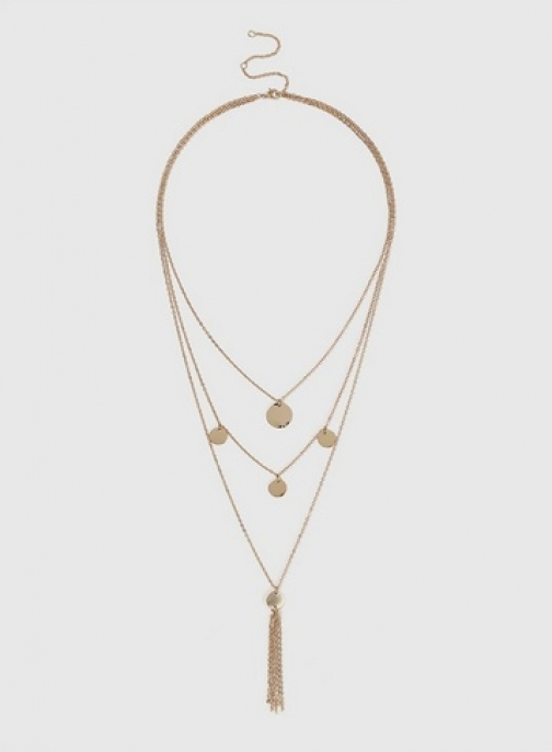 Dorothy Perkins Gold Look Disc Multirow Necklace