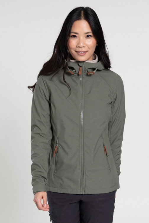 Mountain Warehouse Iona Womens Softshell - Green Jacket