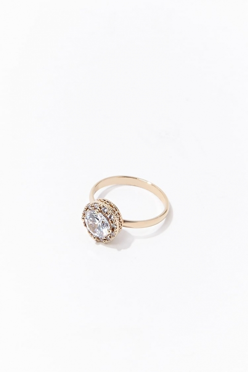 Forever21 Forever 21 CZ Stone , Gold/clear Ring