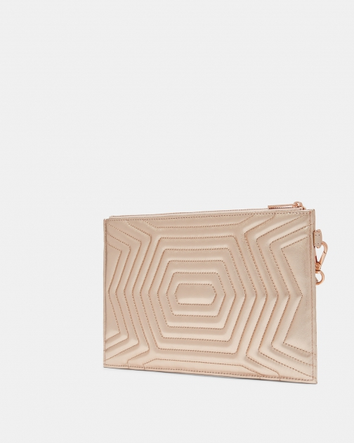Ted Baker Quilted Bow Leather Bag Clutch