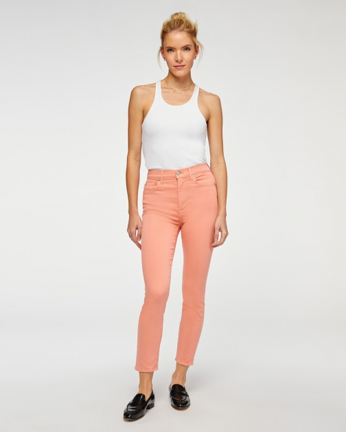 7 For All Mankind Womens High Waist Ankle Skinny Rose Size: 23 Trouser