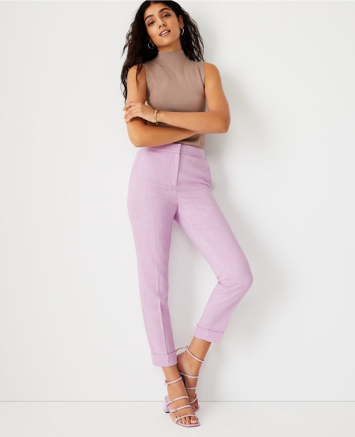 Ann Taylor The High Waist Ankle Pant - Curvy Fit Trouser