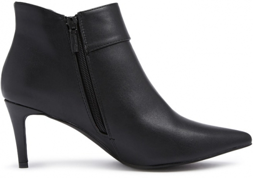 Forever21 Forever 21 Faux Leather O-Ring Ankle Booties , Black Boot