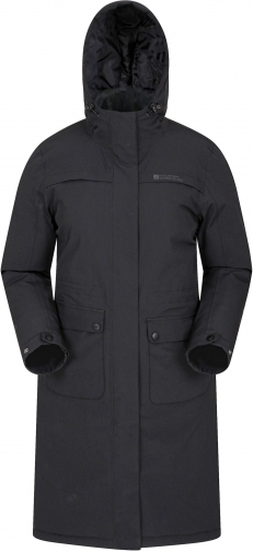 Mountain Warehouse Frontier Long Waterproof Womens Padded - Black Jacket