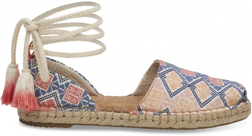 Toms TOMS Geo Embroidered Women's Katalina Espadrilles Shoes - Size UK5 / US7 Espadrille