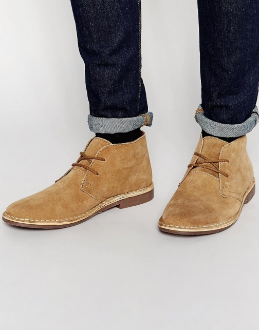 Red Tape Leather Suede Desert Boot