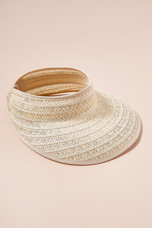 Anthropologie Madia Straw Visor Hat